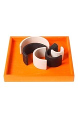 Grimms Monochrome Wooden Stacking Tunnel Toy by Grimms