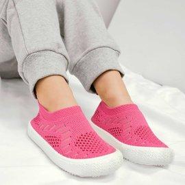 Jan & Jul by Twinklebelle Hot Pink Breeze Knit Shoes by Jan & Jul