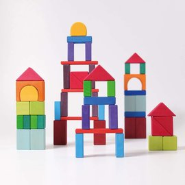 Grimms Wooden Geometrical Blocks by Grimms (60-Piece)