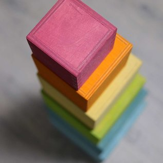 Grimms Pastel Large Wooden Stacking Boxes by Grimms