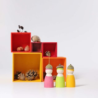 Grimms Yellow-Orange Small Wooden Stacking Boxes by Grimms