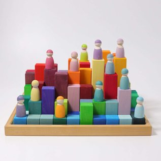 Grimms Large Stepped Pyramid Building Set (100 pieces)