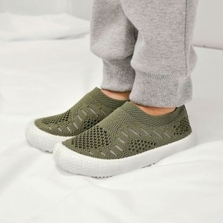 Jan & Jul by Twinklebelle Army Green Breeze Knit Shoes by Jan & Jul
