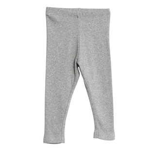 WHEAT KIDS Melange Grey Rib Leggings by Wheat