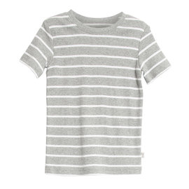 WHEAT KIDS Melange Grey Stripe T-Shirt 'Wagner' Style by Wheat