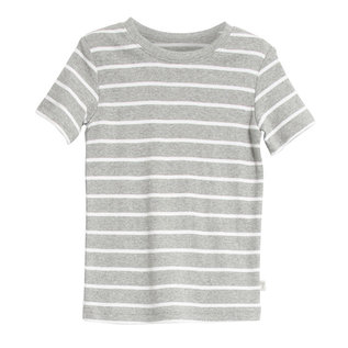 WHEAT KIDS Melange Grey Stripe T-Shirt 'Wagner' Style by Wheat