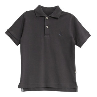 WHEAT KIDS Organic Cotton Navy Anchor Polo by Wheat