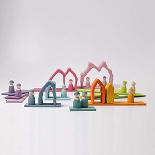 Grimms Coral Reef Arch Stacker (7 Pieces) by Grimms