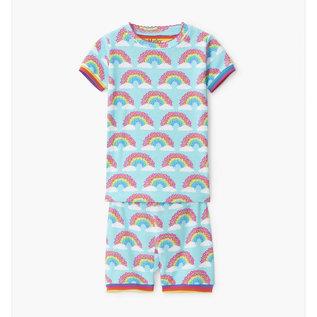 Hatley Magical Rainbows Organic Cotton Short & T-Shirt PJ Set by Hatley