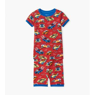 Hatley Hot Rods Organic Cotton Short & T-Shirt PJ Set by Hatley