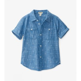 Hatley Chambray Anchors Button Down Shirt by Hatley