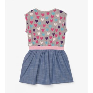 Hatley Multicolour Hearts/Chambray Dress by Hatley
