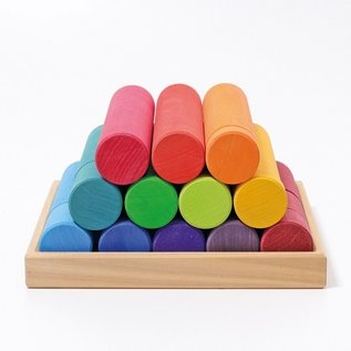 Grimms Large Building Rollers (Rainbow) by Grimms