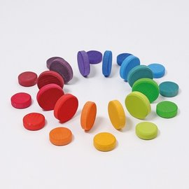 Grimms Wooden Rainbow Coins by Grimms