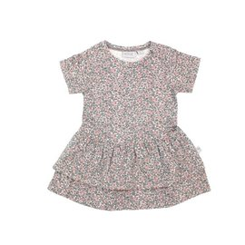 WHEAT KIDS Organic Cotton Johanna Dress Eggshell Floral by Wheat