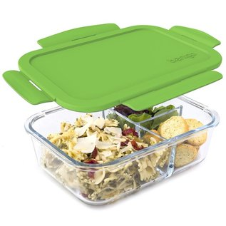 Bentgo Bentgo Glass 3 Compartment Leakproof Bento Box Lunch Container