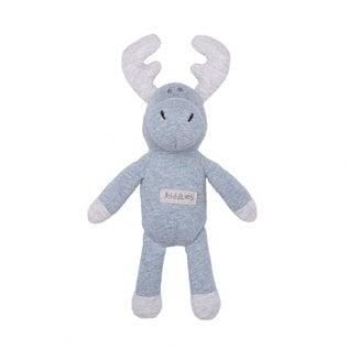 Juddlies Soft Blue Moose Rattle Toy