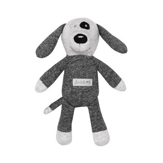 Juddlies Soft Graphite Black Dog Rattle Toy