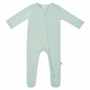 Kyte Baby Sage Colour Zippered Bamboo Footie by Kyte Baby