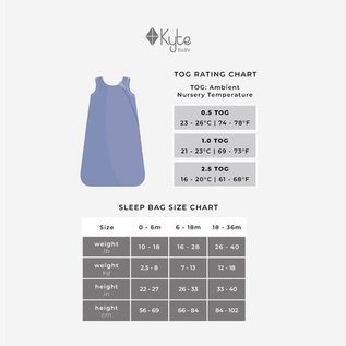 Kyte Baby Slate Colour Sleep Bag 2.5 Tog by Kyte Baby