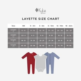 Kyte Baby Long Sleeve Sage Colour Bamboo Bodysuit by Kyte Baby