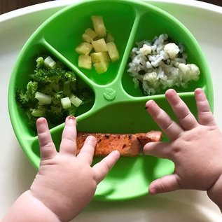 Green Sprouts Silicone Learning Plate Divided (Green)