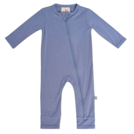 Kyte Baby Slate Colour Zippered Bamboo Romper by Kyte Baby
