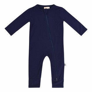 Kyte Baby Navy Colour Zippered Bamboo Romper by Kyte Baby