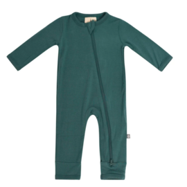 Kyte Baby Emerald Colour Zippered Bamboo Romper by Kyte Baby