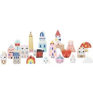 Vilac Tiny City 20 Piece Block Set