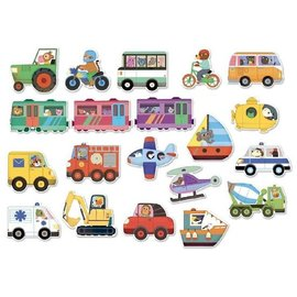 Vilac Transportation (Vehicle) Magnets by Vilac