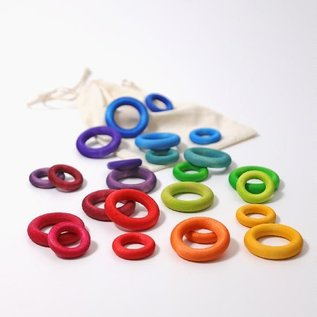 Grimms Rainbow Building Rings by Grimms (24 Piece)