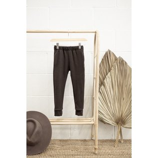 Jax & Lennon Faded Black Colour Terry Joggers by Jax & Lennon