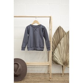Jax & Lennon Blue Terry Crew Neck Sweater by Jax & Lennon
