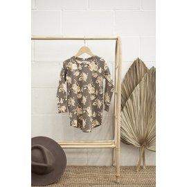 Jax & Lennon Floral Print Terry Sweater Dress by Jax & Lennon