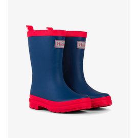Hatley Navy & Red Matte Rain Boots by Hatley