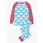 Hatley Cheerful Clouds Organic Cotton Raglan Pajama Set by Hatley
