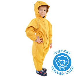 Jan & Jul by Twinklebelle Yellow Colour Cozy-Dry Fleece Lined Waterproof Play Suit by Jan & Jul