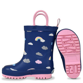 Jan & Jul by Twinklebelle Rainbow Rain boots by Jan & Jul