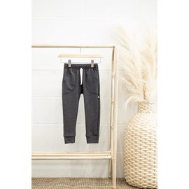 Jax & Lennon Charcoal Colour Terry Lounge Pants by Jax & Lennon