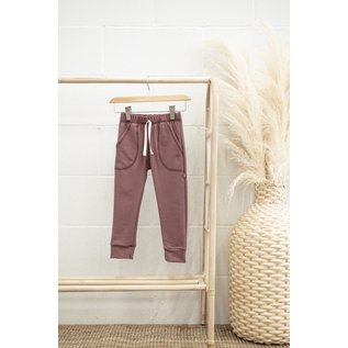 Jax & Lennon Purple Colour Terry Lounge Pants by Jax & Lennon