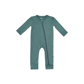Kyte Baby Pine Colour Zippered Bamboo Romper by Kyte Baby