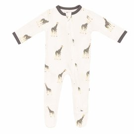 Kyte Baby Giraffe Print Zippered Bamboo Footie by Kyte Baby