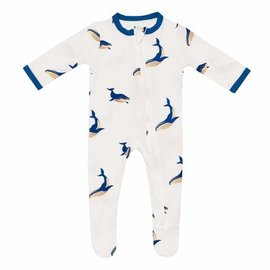 Kyte Baby Whale Print Zippered Bamboo Footie by Kyte Baby