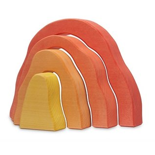 Red Cave Wooden Toy by Ocamora
