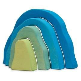 Blue Cave Wooden Toy by Ocamora