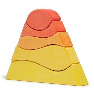 Red Mountain Wooden Toy by Ocamora