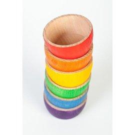 Grapat Wood Coloured Bowls (6 Pieces) by Grapat
