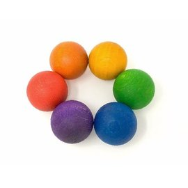 Grapat Wood Coloured Balls (6 Pieces) by Grapat