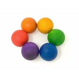 Grapat Wood Coloured Balls (6 Pieces)